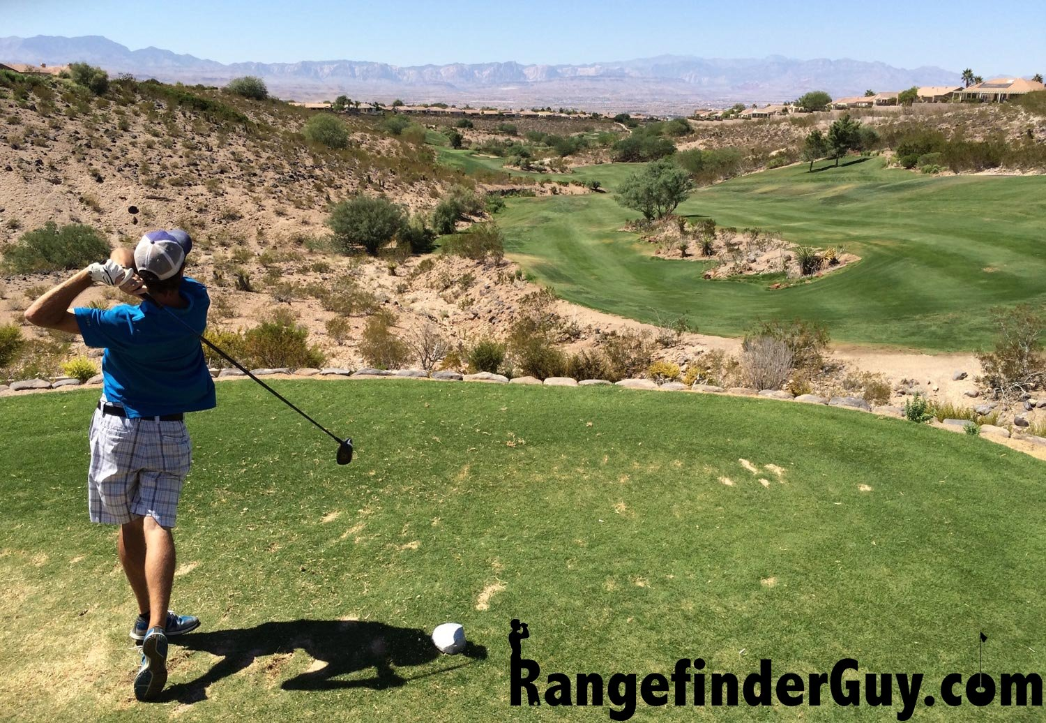 The Golf Rangefinder Guy teeing off in Las Vegas